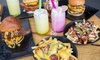 Burger with Chips and Soft Drink