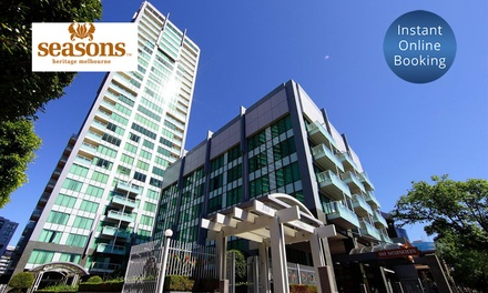 Melbourne: Up to 3Night City Escape for Up to Four People with Wine and Parking at 4* Seasons Melbourne Botanic Gardens