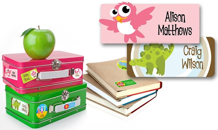 Dinkleboo: One or Two Personalized Children's Name Label 42-Packs from Dinkleboo (Up to 77% Off)