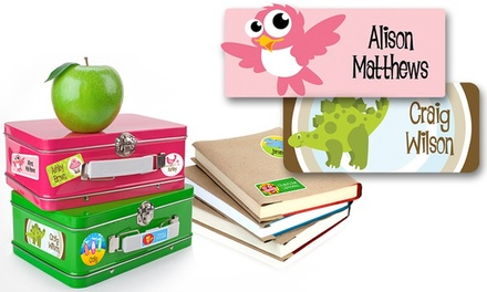 One or Two Personalized Children's Name Label 42-Packs from Dinkleboo (Up to 77% Off)
