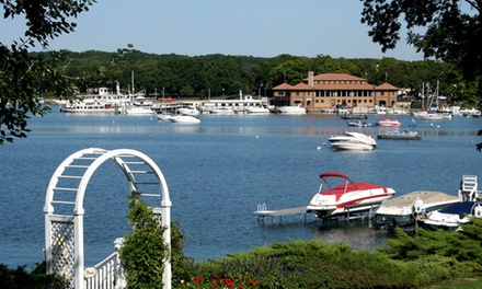 Stay at Harbor Shores on Lake Geneva, WI. Dates into December.