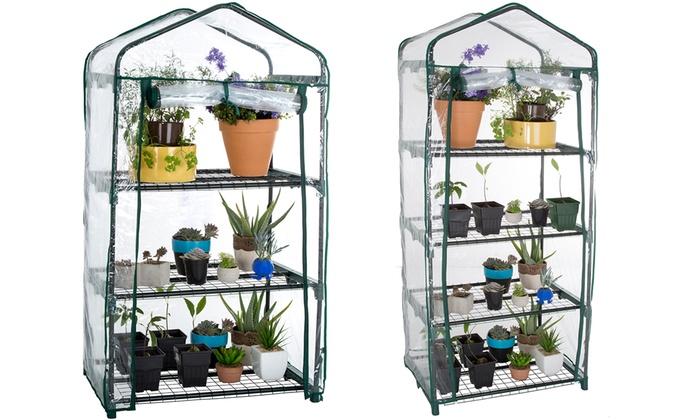 Pure Garden Mini Greenhouse with Cover: Pure Garden Mini Greenhouse with Cover