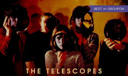 General Admission Tickets to The Telescopes at 100 Club, Wednesday 25 January
