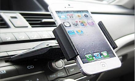 1, 2 of 3 smartphone houders voor in de auto, voor in CD sleuf