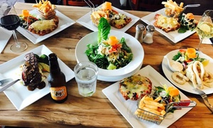 Awesome Parmigiana And Steakhouse: Two-Course Parmigiana Meal + Wine for 2 ($35) or 10 Ppl ($159) at Awesome Parmigiana and Steakhouse (Up to $265 Value)