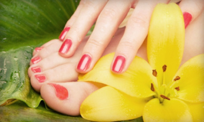 Cathy Franco at Allure Salon Professionals - Kalamazoo: $35 for a Spa Mani-Pedi from Cathy Franco at Allure Salon Professionals ($90 Value)
