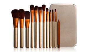12 pinceaux maquillage