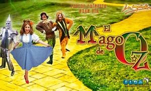 """TEATRO PRÍNCIPE GRAN VÍA: Entrada para el espectáculo """"El Mago de Oz"""" del 22 al 29 de abril por 9,50 € en Teatro Príncipe Gran Vía"""