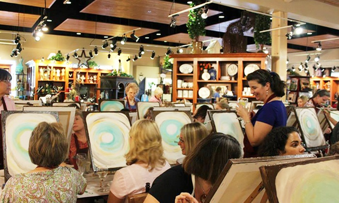 Pinot's Palette - Katy - Katy: $25 for a Three-Hour BYOB Painting Class for One at Pinot's Palette ($45 Value)
