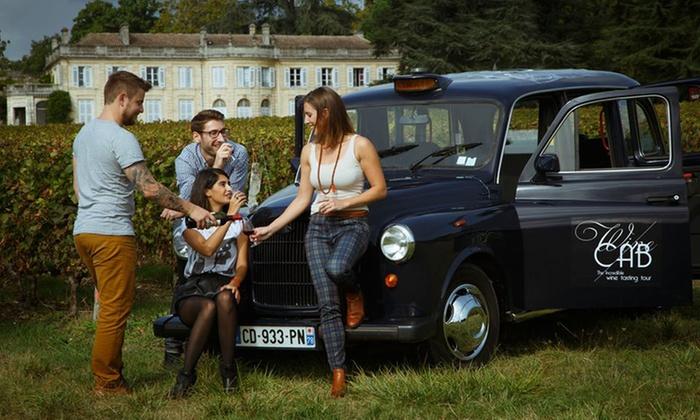 circuit de 3h30 en taxi anglais en duo the wine cab by bordeaux event groupon. Black Bedroom Furniture Sets. Home Design Ideas