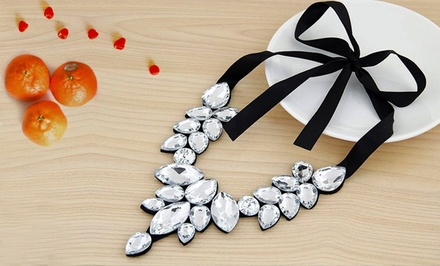 One, Two, or Three Dazzling Crystal Embedded Statement Necklaces from Novadab (Up to 90% Off)
