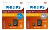 Philips Class10 SD-kaart 16/32 GB