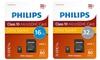 Carte SD Philips Class 10 16/32 Go