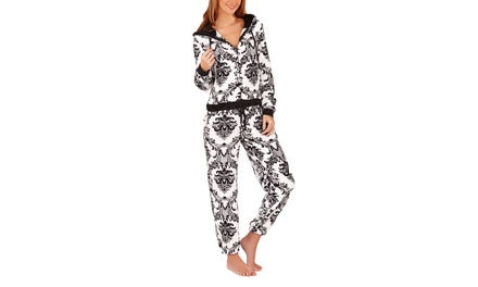 Women's Baroque Print Soft Onesie Jumpsuit for £15.98