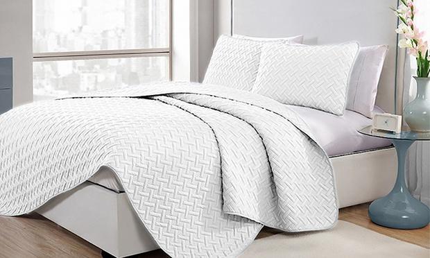 3 Piece Embossed Comforter Set Groupon