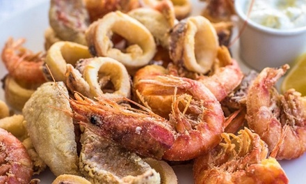 2 kg di frittura di mare con vino a 34,90€euro
