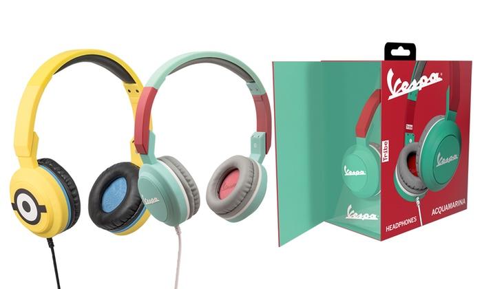 Cuffie headphone Vespa e Minions