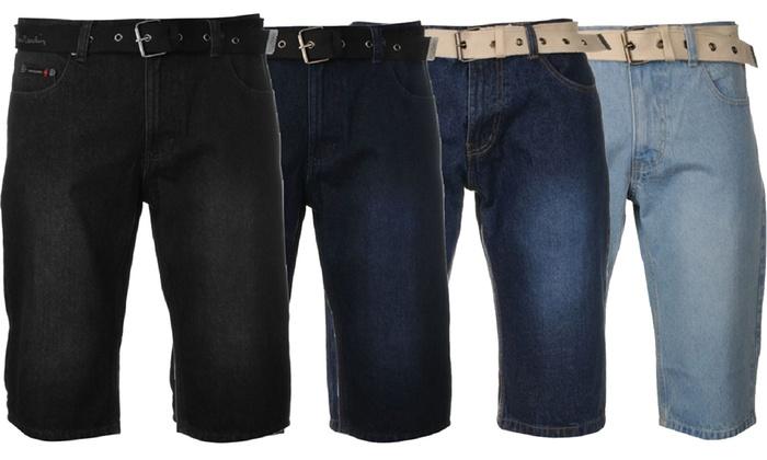 Groupon Goods Global GmbH: Bermuda homme en jean Pierre Cardin, 100% coton, coloris et tailles au choix
