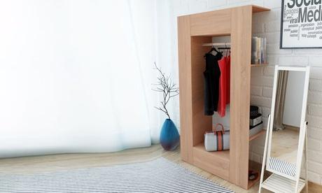 Armario con estantes vistos disponible en dos colores