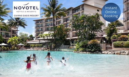 Cairns: 1 to 4 Nights for Family of Four with Late CheckOut and Cocktails at Novotel Cairns Oasis Resort