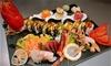 Menu sushi open con Prosecco