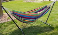 Backyard Expressions 9ft Double Cotton Hammock w/Stand