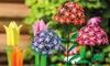 Metal Garden Flowers: Metal Garden Flowers (3- or 5-Pack)