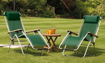 1 ou 2 chaises longues multi positions, finition bois ou plastique, coloris au choix