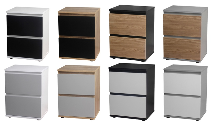 Two-Drawer Bedside Cabinet