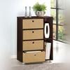 Furinno Multipurpose Storage Cabinet with 4 Bins