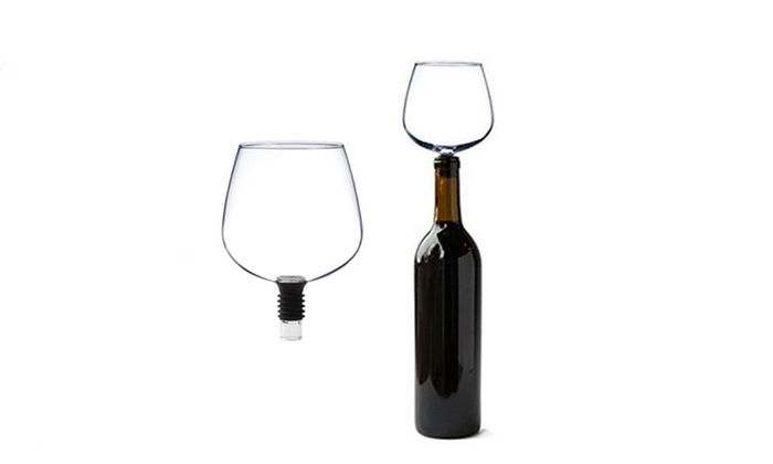Wine Bottle Glass Attachment Groupon