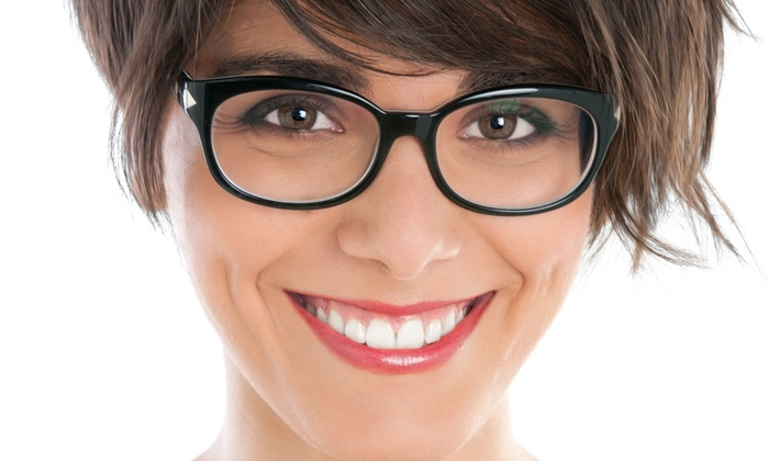 Lens Lab Express - Multiple Locations: Eye Exam with $200 Toward Glasses or $140 Toward Contacts at Lens Lab Express (Up to 85% Off)