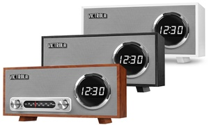 Victrola VC-100 Bluetooth Digital Clock Stereo with FM Radio