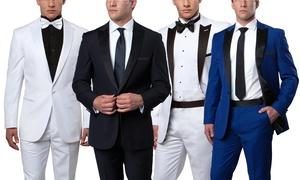 Men's Solid Slim-Fit 2-Button Tuxedo (2-Piece)