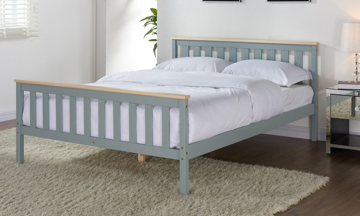 Wooden Bed Frame with Optional Mattress from £80 (46% OFF)