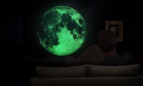 Hasta 4 adhesivos de pared luminosos: luna o estrellas