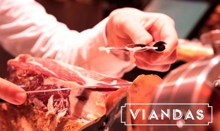 Degustación gourmet de ibéricos con 2 bebidas para dos personas desde 16,95 € en Viandas, 9 localizaciones