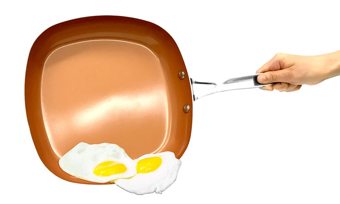 Gotham Steel Deep Square Nonstick Copper Frying Pan As