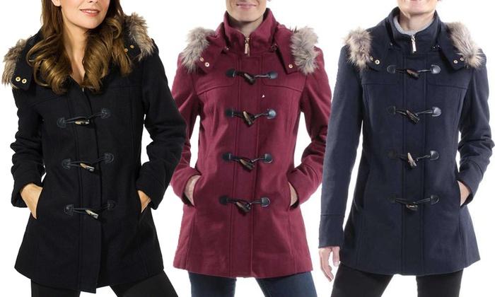 34872d794 Alpine Swiss Duffy Women's Faux Fur Trim Hooded Parka | Groupon