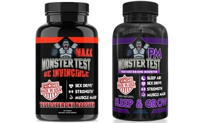 Angry Supplements Monster Test MAXX and PM Testosterone Boosters