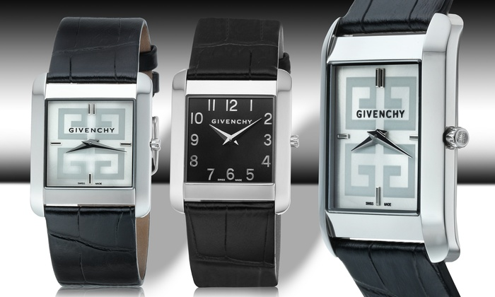 Givenchy Men's Swiss-Made Watches: Givenchy Men's Swiss-Made Watch with Black or Silver Dial. Free Returns.