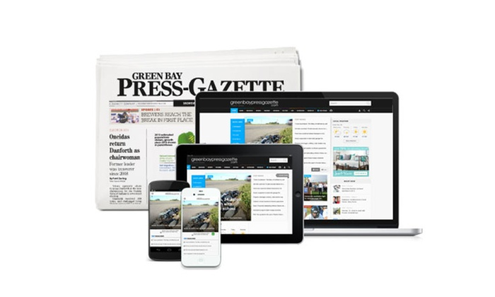 """The Green Bay Press Gazette: Sunday and Thursday Editions or Digital Subscription of the """"Green Bay Press-Gazette"""" (Up to 82% Off)"""