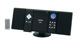 Jensen Wall-Mountable CD Music System with AM/FM Radio and Remote