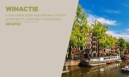 Winactie: 4 uur varen door Amsterdam, Utrecht, Haarlem of Leiden met max. 12 personen via Sloepdelen