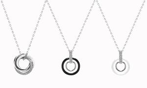 (Bijou)  Collier céramique cristaux -89% réduction