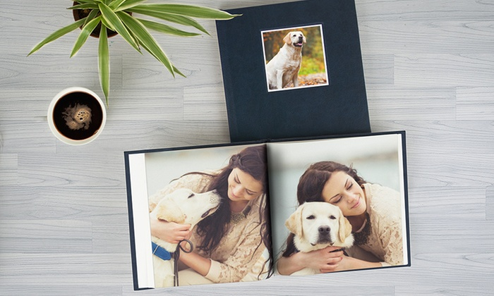 Photobook Emirates: Leather Cover Debossed Customized Photobook from AED 49 (Up to 73% Off)