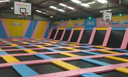 image for One-Hour Bouncing Session for Adult with Toddler or for Up to Four at Tramp 2 Lean Sheffield