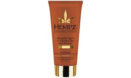 Hempz Limited Edition Pumpkin Spice and Vanilla Chai Herbal Body Butter (6 Fl. Oz.)