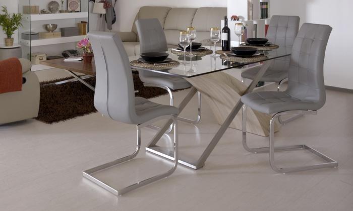 Set tavolo da soggiorno con 4 sedie | Groupon