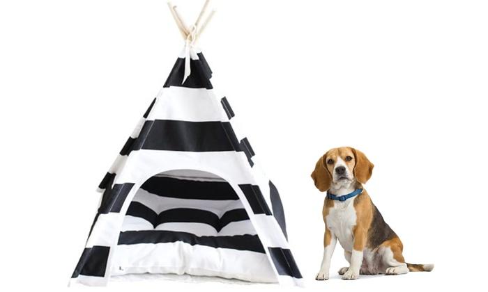 tente tipi pour chien groupon. Black Bedroom Furniture Sets. Home Design Ideas